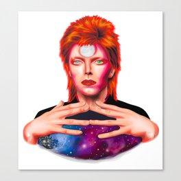 David Bowie - Stylized portrait in retro modern style Canvas Print