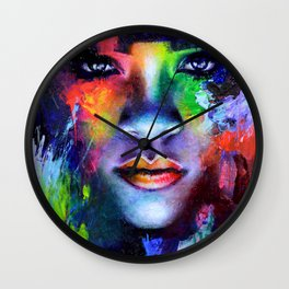 Rihanna Colors Wall Clock
