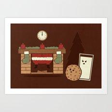 Santa's Coming Art Print