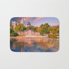 Atlanta Skyline in Lake Bath Mat