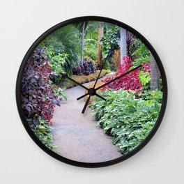 Garden Path Wall Clock