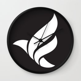 LFN b&w logo Wall Clock