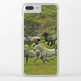 Running with wind Clear iPhone Case