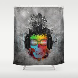 Rebel music Shower Curtain