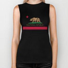 California Republic Flag - Bear Flag Biker Tank