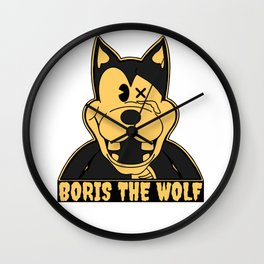Boris the Wolf Wall Clock