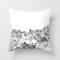 Human Jungle  Throw Pillow