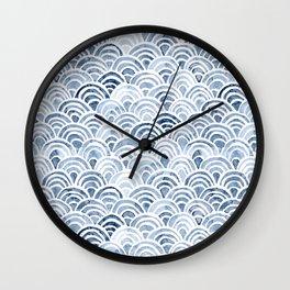Indigo Oriental Sea Wall Clock