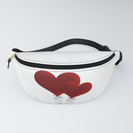 Valentine love hearts Fanny Pack