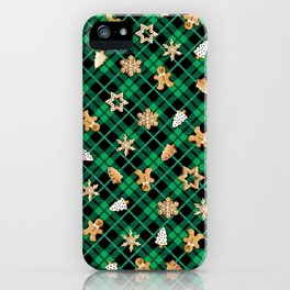 Gingerbread Green iPhone Case