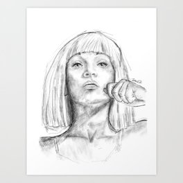 Young Maddie Art Print