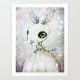 Delicate Rabbit Art Print