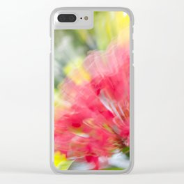 Flower Burst - Electric Magenta Clear iPhone Case