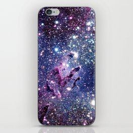 Purple Blue Eagle Nebula iPhone Skin