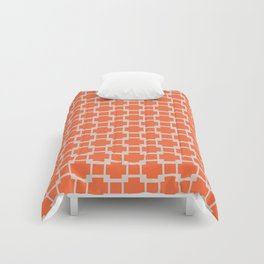 Orange Criss Cross Comforters