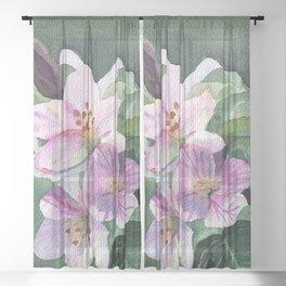 Apple blossom Sheer Curtain