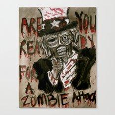 Zombie Sam Canvas Print
