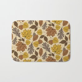 Falling Leaves Pattern Bath Mat