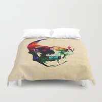 dave grohl Duvet Covers featuring I live inside your face by Fimbis