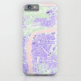 Prague map violet iPhone Case