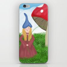 Gnome girl iPhone & iPod Skin