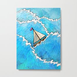 Let's Go Sailing Metal Print