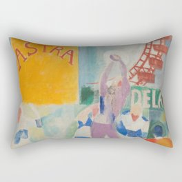 "Robert Delaunay ""Astra"" (also known as Study for ""The Football Players of Cardiff"") Rectangular Pillow"