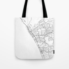 Minimal City Maps - Map Of Oceanside, California, United States Tote Bag