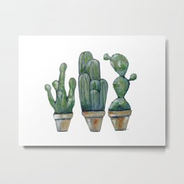 Cactus Tree Metal Print