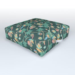Tropical nights with cocktail pattern Outdoor Floor Cushion