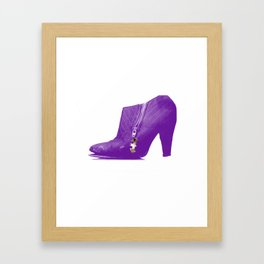 prince batpurpleboots Framed Art Print
