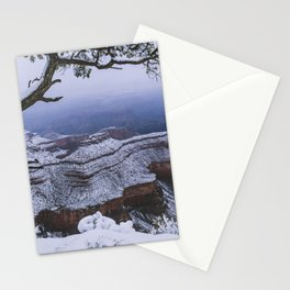 Snowy Grand Canyon Mesa Stationery Cards