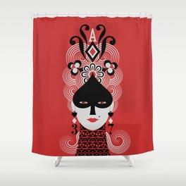 Lady Spades Shower Curtain