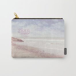 Pink Heart Beach. (Pray) Carry-All Pouch