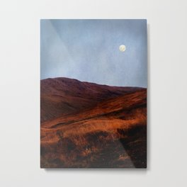 Moon Over Rannoch Metal Print