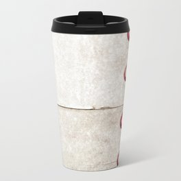 Four on Gray Metal Travel Mug