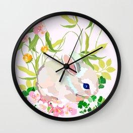 springtime bunny Wall Clock
