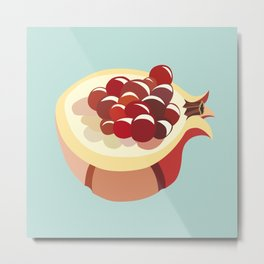 pomegranate fruit illustration Metal Print