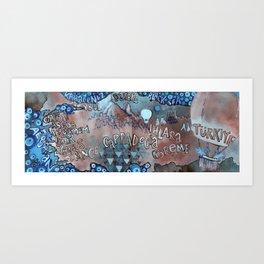 Map of Turkey Art Print