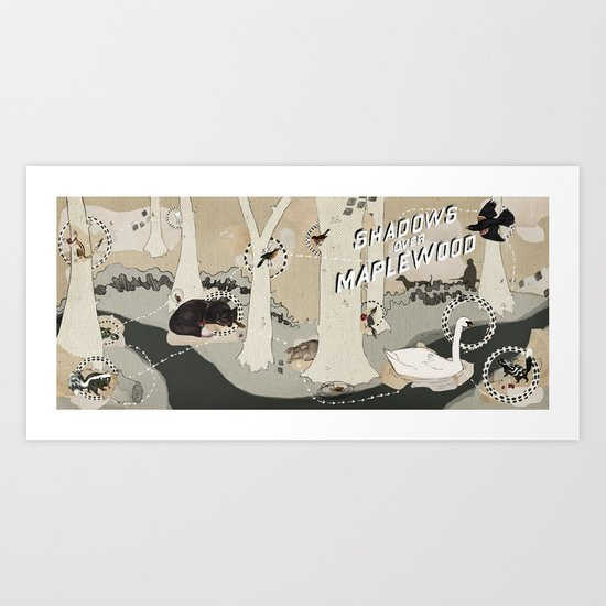 shadows over maplewood Art Print