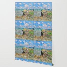 Claude Monet - Cliff Walk At Pourville Wallpaper
