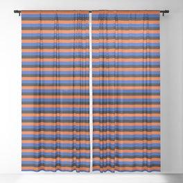 Color Stripe _001 Sheer Curtain
