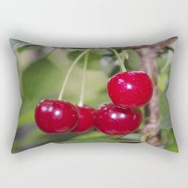 Cherries, fresh on the tree Rectangular Pillow