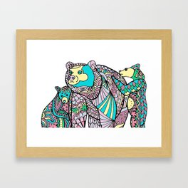 The Woodlands: Grizzly Bears Framed Art Print