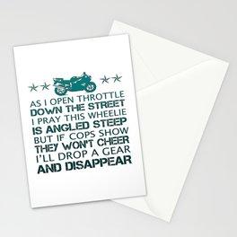 BIKER'S POEM Stationery Cards
