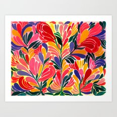 Colorful Petals Pattern Art Print