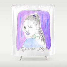 My own style Shower Curtain