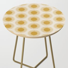 Golden Sun Pattern Side Table