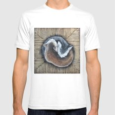 Cats rest MEDIUM White Mens Fitted Tee