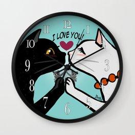 Love you cats Wall Clock
